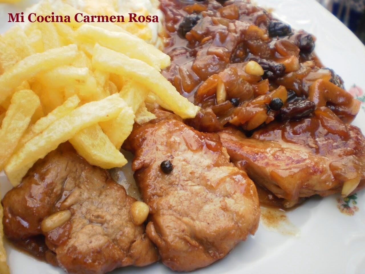 Mi cocina solomillo de cerdo en salsa pedro xim n solera for Mi cocina malaga