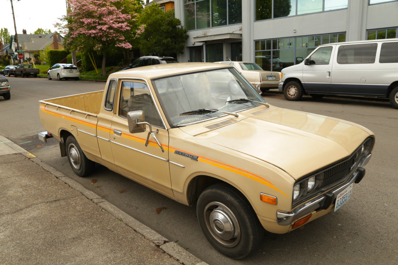 OLD PARKED CARS.: 1979 Datsun 620.
