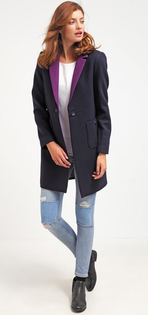 Manteau femme bleu marine Kookai