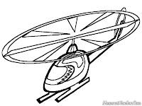 Halaman Mewarnai Gambar Helicopter