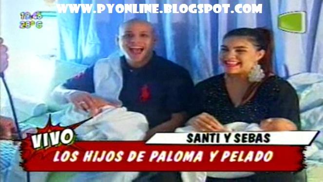 Teleshow: Paloma y Pelado presentaron a sus hijos