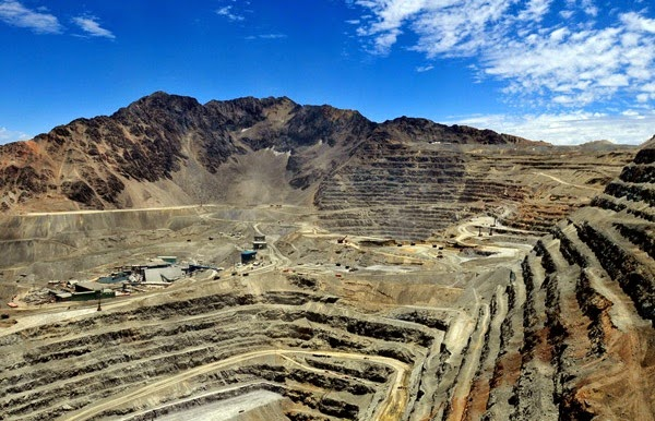Anglo American's Los Bronces copper mine in central Chile