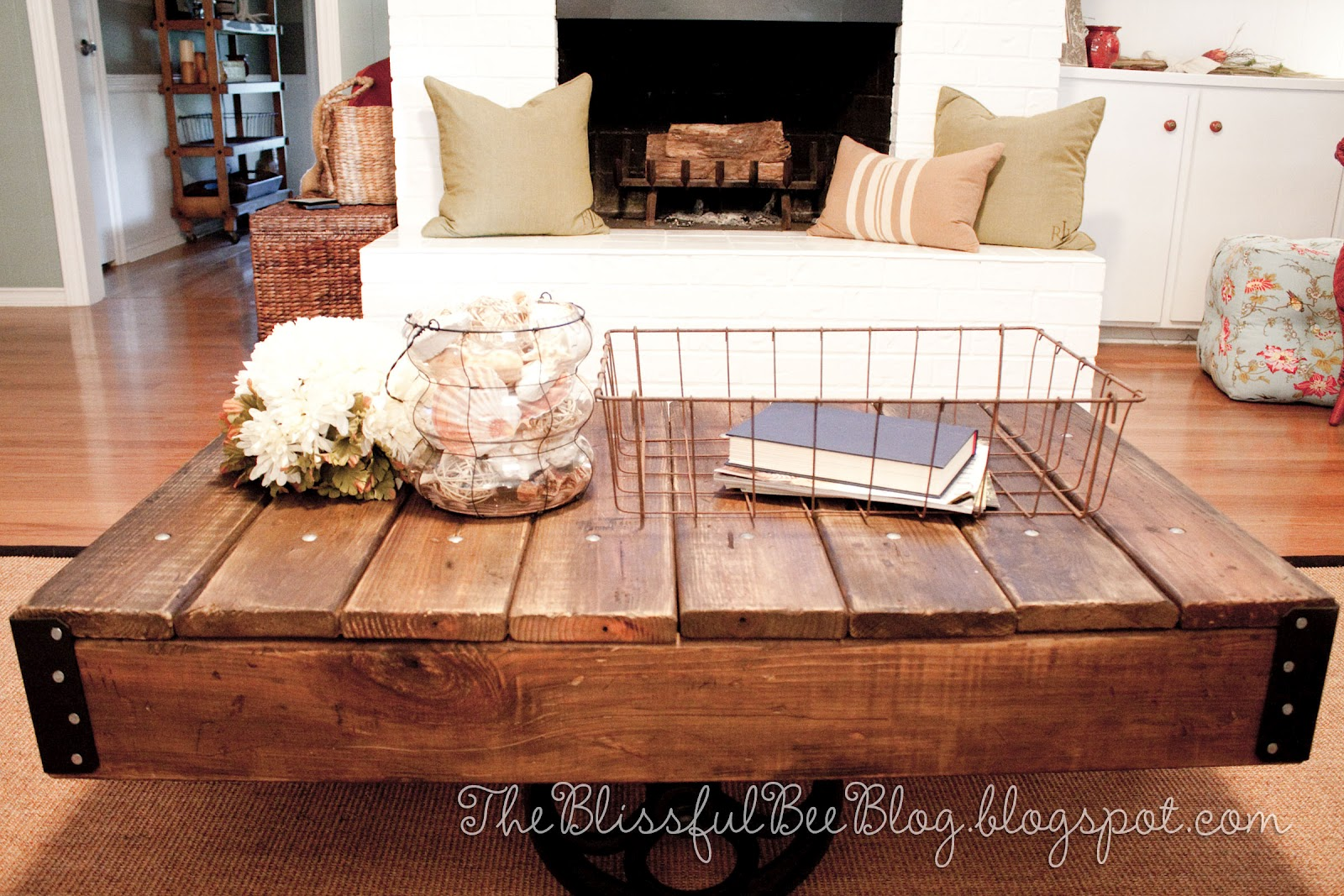 Factory cart table diy restoration hardware inspired Eclectic coffee table makeovers