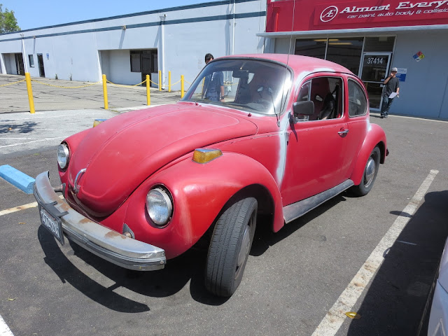 1974 Volkswagen Beetle in need of paint job at Almost-Everything Auto Body