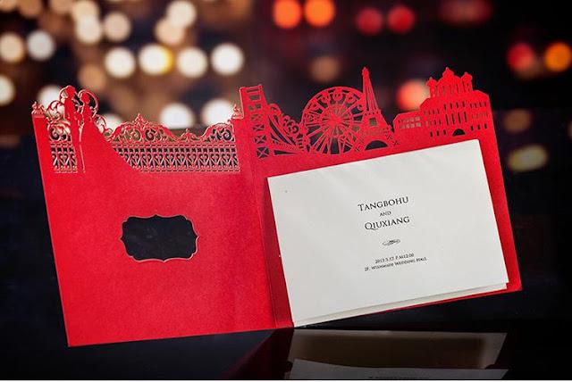 elegant, red, laser cut, design, pattern, wonderland, fairy tale, big ben, eifel tower, gold hot stamping, personalized, personalised, printing, malaysia, bespoke, kuala lumpur, selangor