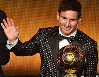messi wins ballon d'Or 2012