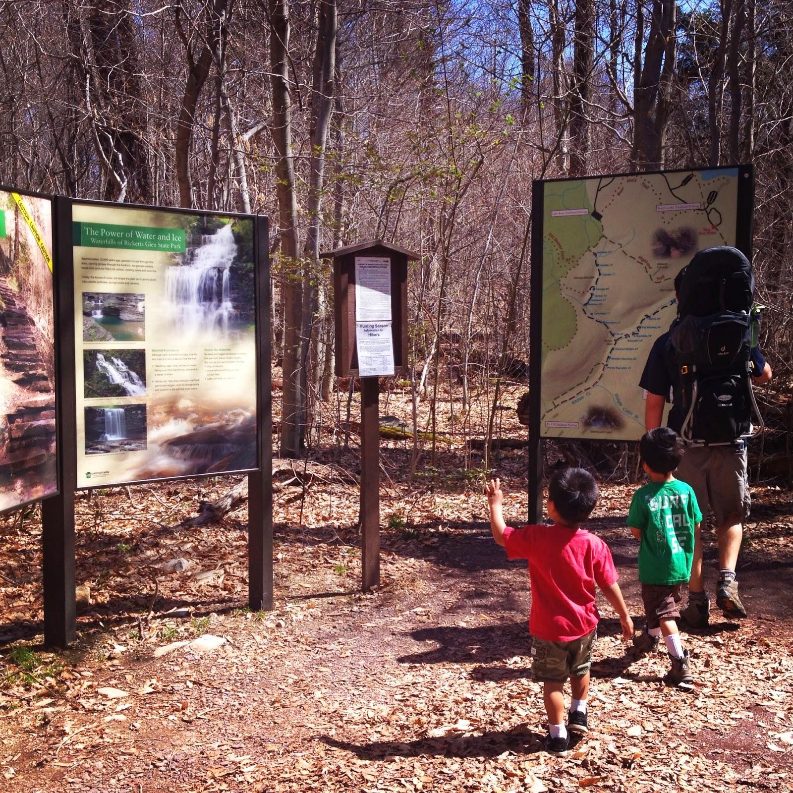 Ricketts Glenn Falls Trail Trailhead