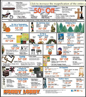 Hobby lobby coupon and deals thru 10 15