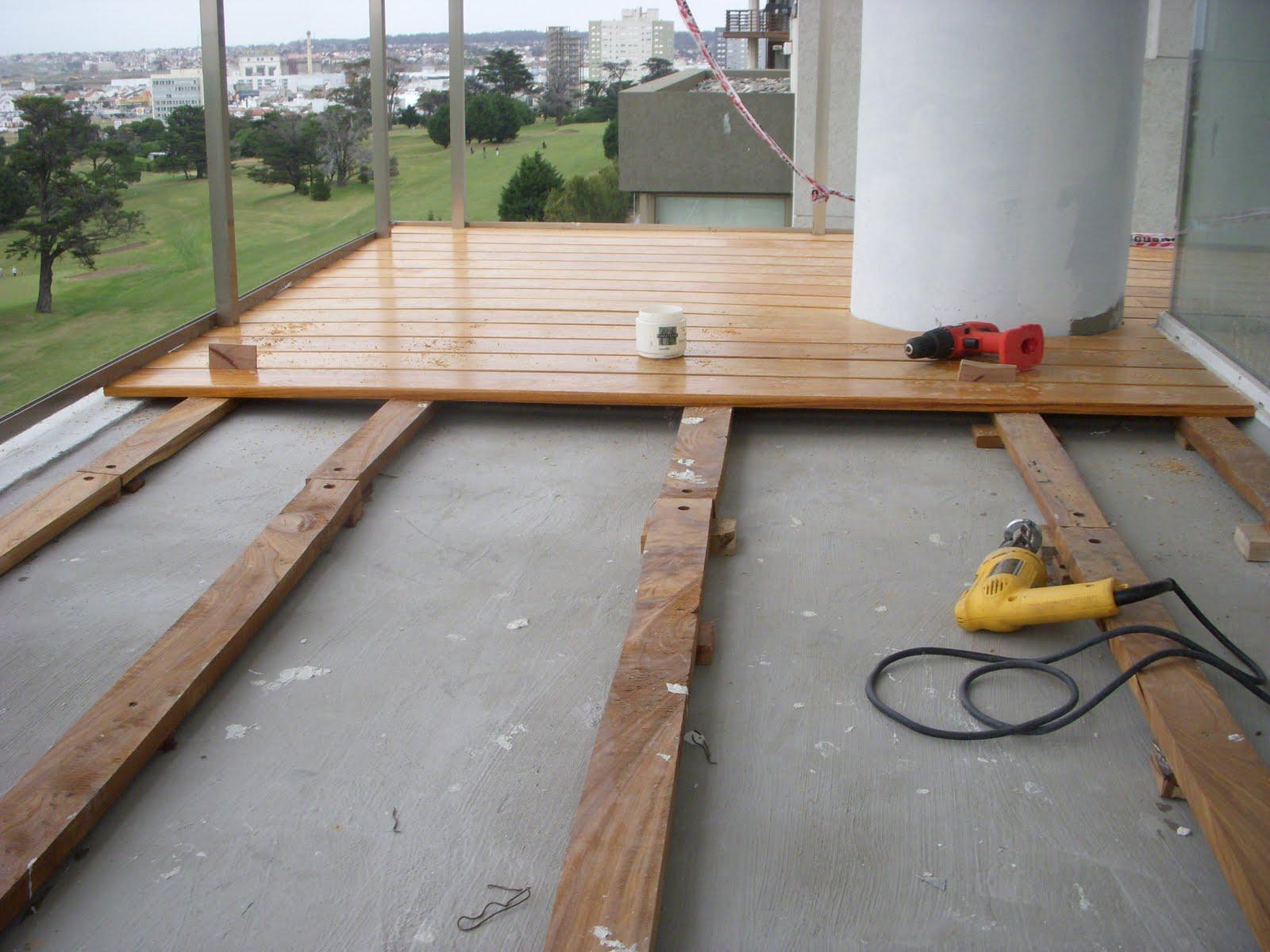 Pisos de madera decks en balcones for Balcones madera exterior