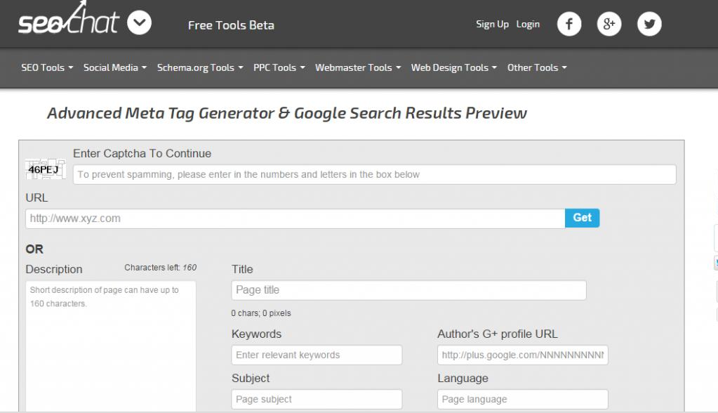 Advanced Meta Tag Generator & Google Search Result Preview