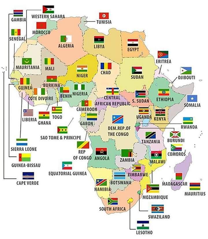 África y sus banderas