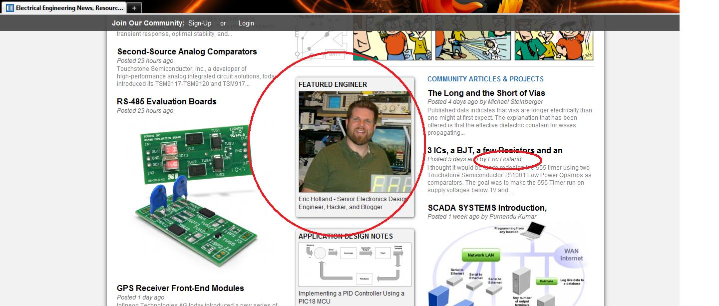 Rants From The Embedded Hardware Guy August 2011 Audio Level Threshold Control Eeweb Community Seriously It Is An Honor And A Privilege To Be Recognized For Something I Love Doing Thanks