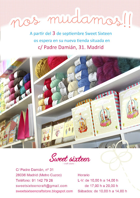 Nos mudamos en Sweet sixteen craft store, madrid.