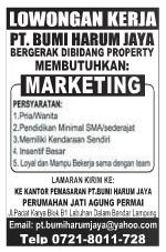 Lowongan Kerja MARKETING (PT. Bumi Harum Jaya) OKTOBER 2015 di Bandar Lampung, Lowongan Kerja MARKETING (PT. Bumi Harum Jaya) OKTOBER 2015 di Metro, Lowongan Kerja MARKETING (PT. Bumi Harum Jaya) OKTOBER 2015 di Bandar Jaya, Lowongan Kerja MARKETING (PT. Bumi Harum Jaya) OKTOBER 2015 di Liwa, Lowongan Kerja MARKETING (PT. Bumi Harum Jaya) OKTOBER 2015 di Kalianda, Lowongan Kerja MARKETING (PT. Bumi Harum Jaya) OKTOBER 2015 di Tulang Bawang, Lowongan Kerja MARKETING (PT. Bumi Harum Jaya) OKTOBER 2015 di Pringsewu, Lowongan Kerja MARKETING (PT. Bumi Harum Jaya) OKTOBER 2015 di Kota bumi, Lowongan Kerja MARKETING (PT. Bumi Harum Jaya) OKTOBER 2015 di Krui, Lowongan Kerja MARKETING (PT. Bumi Harum Jaya) OKTOBER 2015 di Natar, Lowongan Kerja MARKETING (PT. Bumi Harum Jaya) OKTOBER 2015 di Blambangan Umpu, Lowongan Kerja MARKETING (PT. Bumi Harum Jaya) OKTOBER 2015 di Panaragan Jaya, Lowongan Kerja MARKETING (PT. Bumi Harum Jaya) OKTOBER 2015 di Sukadana, Lowongan Kerja MARKETING (PT. Bumi Harum Jaya) OKTOBER 2015 di Gunung Sugih, Lowongan Kerja MARKETING (PT. Bumi Harum Jaya) OKTOBER 2015 di Wiralaga Mulya, Lowongan Kerja MARKETING (PT. Bumi Harum Jaya) OKTOBER 2015 di Gedong Tataan, Lowongan Kerja MARKETING (PT. Bumi Harum Jaya) OKTOBER 2015 di Surabaya, Lowongan Kerja MARKETING (PT. Bumi Harum Jaya) OKTOBER 2015 di Bandung, Lowongan Kerja MARKETING (PT. Bumi Harum Jaya) OKTOBER 2015 di Bekasi, Lowongan Kerja MARKETING (PT. Bumi Harum Jaya) OKTOBER 2015 di Medan, Lowongan Kerja MARKETING (PT. Bumi Harum Jaya) OKTOBER 2015 di Tangerang, Lowongan Kerja MARKETING (PT. Bumi Harum Jaya) OKTOBER 2015 di Depok, Lowongan Kerja MARKETING (PT. Bumi Harum Jaya) OKTOBER 2015 di Semarang, Lowongan Kerja MARKETING (PT. Bumi Harum Jaya) OKTOBER 2015 di Palembang, Lowongan Kerja MARKETING (PT. Bumi Harum Jaya) OKTOBER 2015 di Makassar, Lowongan Kerja MARKETING (PT. Bumi Harum Jaya) OKTOBER 2015 di Bogor, Lowongan Kerja MARKETING (PT. Bumi Harum Jaya) OKTOBER 2015 di Batam, Lowongan Ker