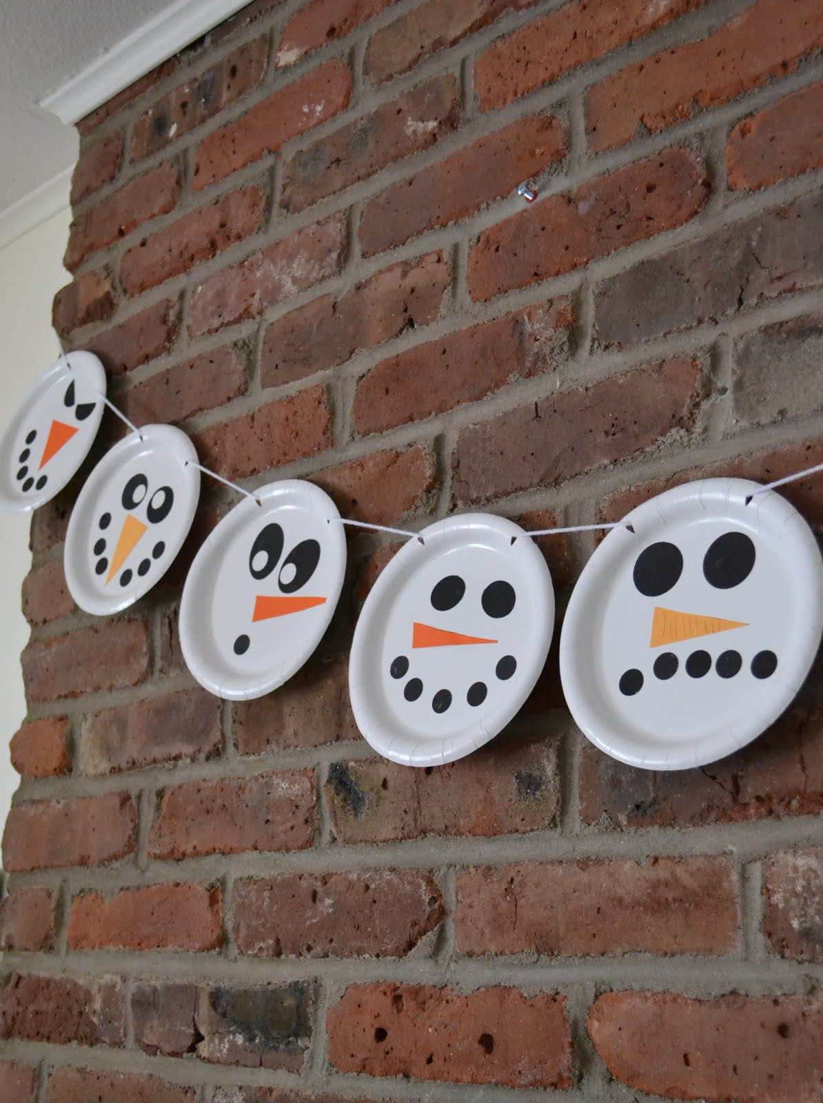 real life one day at a time snowman garland