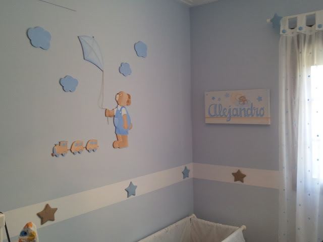 Decoraci n infantil pekerines habitaci n de alejandro - Habitaciones pintadas infantiles ...