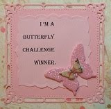 I was a winner at Mrs A's Butterfly