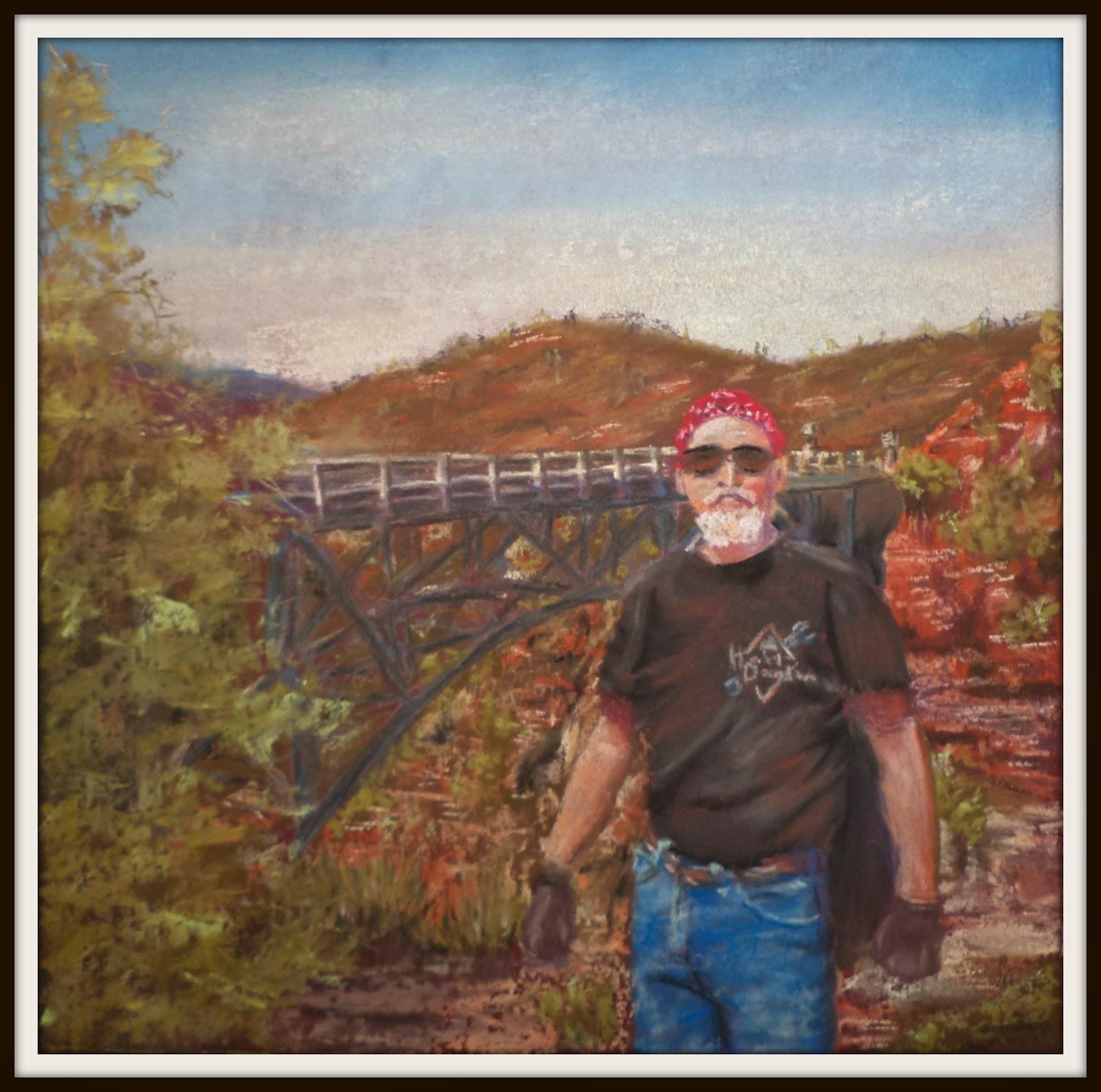 pastel portrait biker New Mexico ncwren