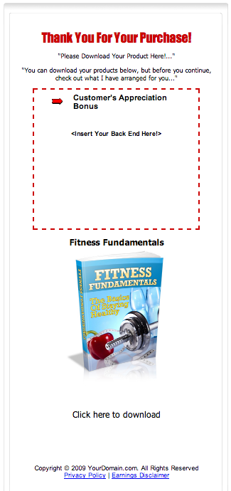 Fitness Fundamentals Thank You Page