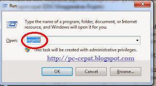 cara membuka registry