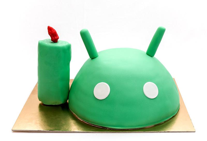 Android cake chocolat chili fondant