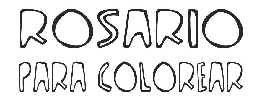 Rosario para colorear