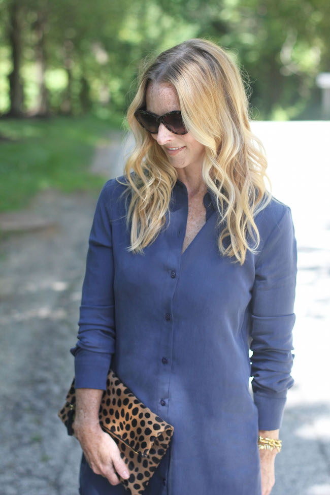 cat eye sunglasses, leopard clutch