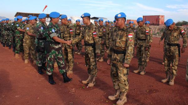 33 Prajurit Satgas Kizi TNI Konga XXXVII-B/Minusca Naik Pangkat