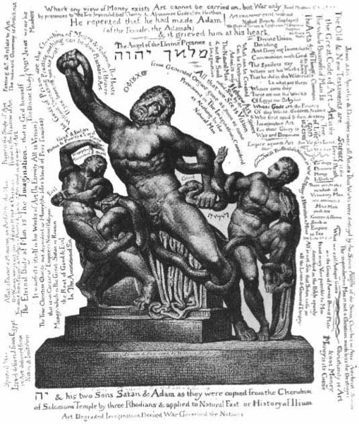 William Blake, Laocoon Print with text