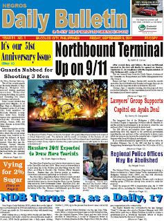 NDB Newspaper in Bacolod and in Western Visayas, Philippines