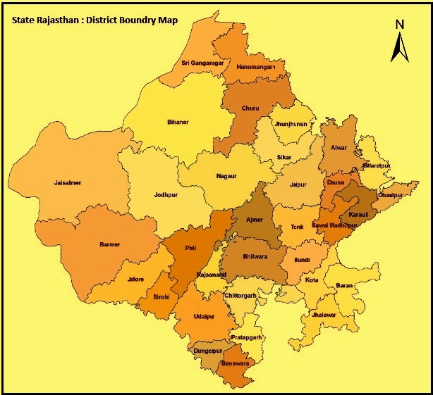 Image result for rajasthan geography map