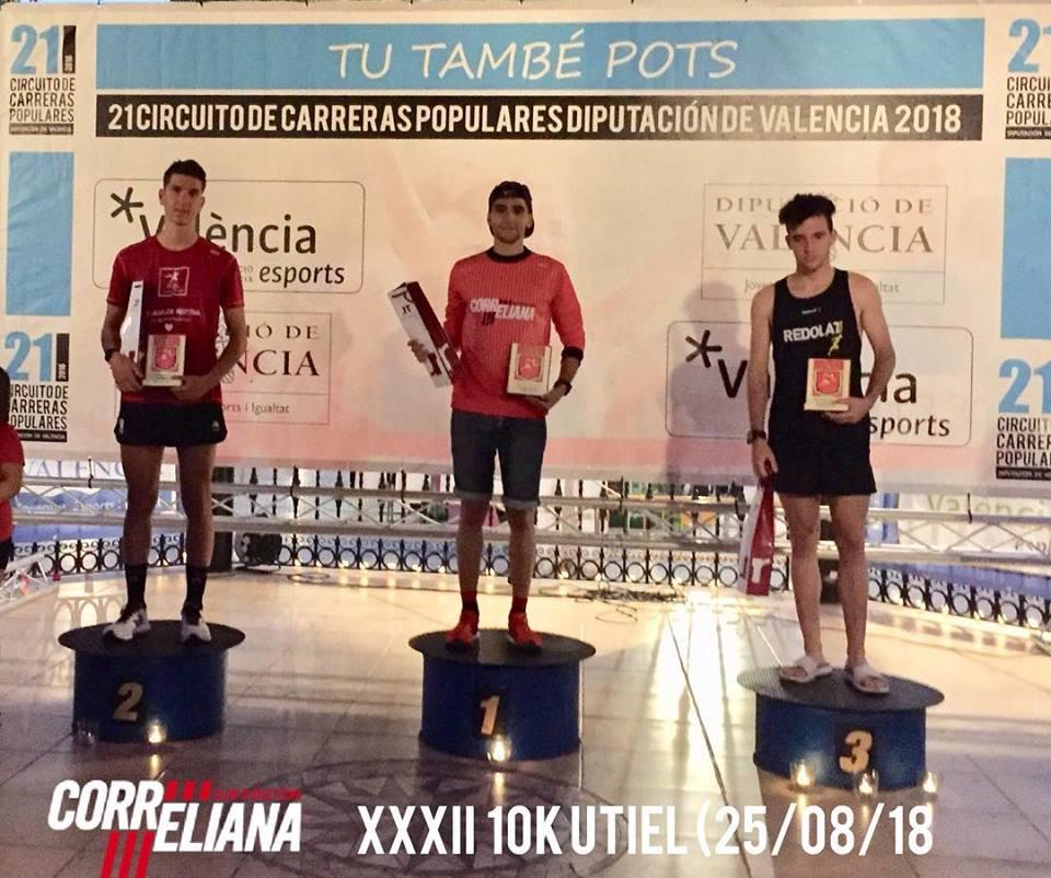 XAVI PONS RUBIO, 1º JUNIOR XXXII VUELTA POPULAR UTIEL-10K (Circuito Diputación Valencia) 25/08/2018