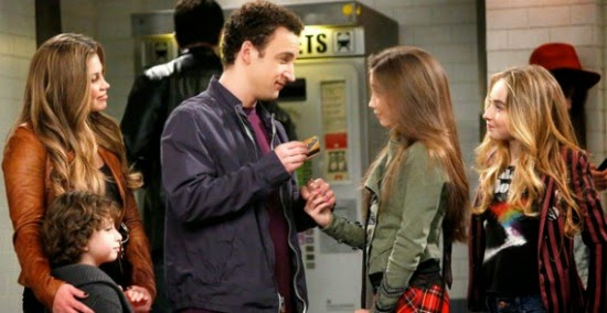 Corey gives Riley a subway card Girl Meets World