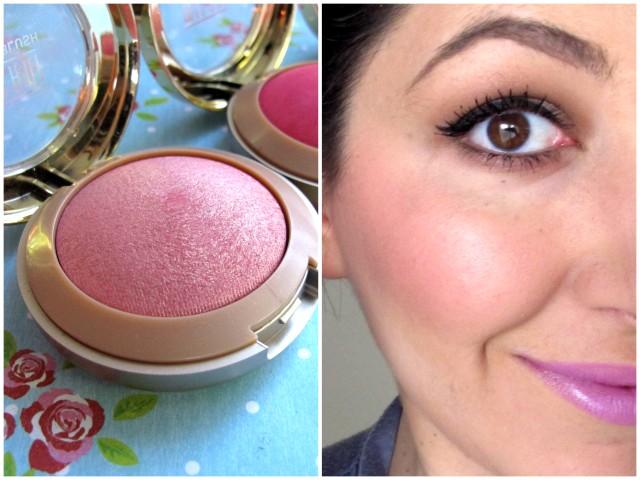 Milani baked blush dolce pink swatch