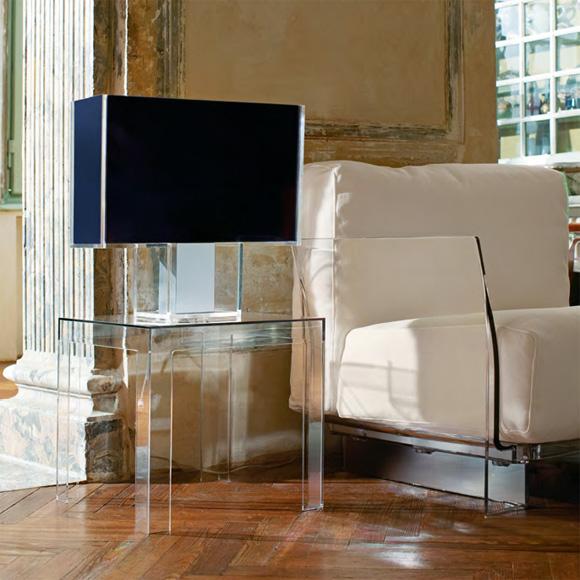 seaseight design blog interior design acrylic side table. Black Bedroom Furniture Sets. Home Design Ideas