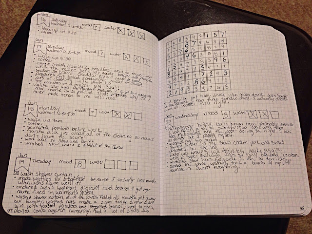 Bullet Journal page and a Sudoku puzzle