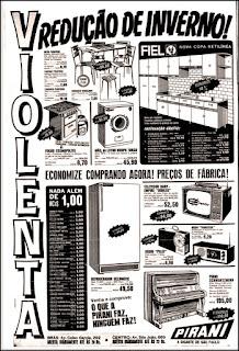Lojas Pirani, história da década de 70. Reclame anos 70. Propaganda anos 70. Brazil in the 70s, Oswaldo Hernandez;