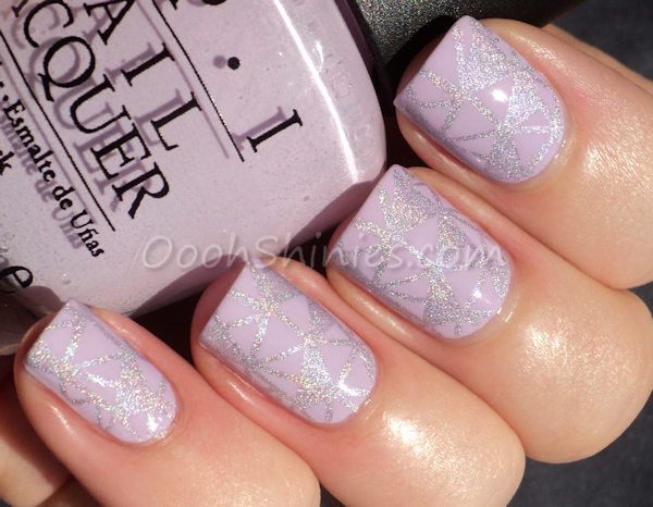 OPI Rumple's Wiggin' with A England Fonteyn and Bundle Monster plate 414.
