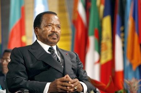 Paul Biya, presidente de Camerún desde junio 30, 1975.