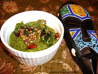 image of Bok Choy Thogayal Recipe / Bokchoy Chutney Recipe / Keerai Thogayal Recipe