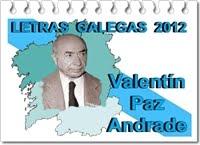 LETRAS GALEGAS 2012