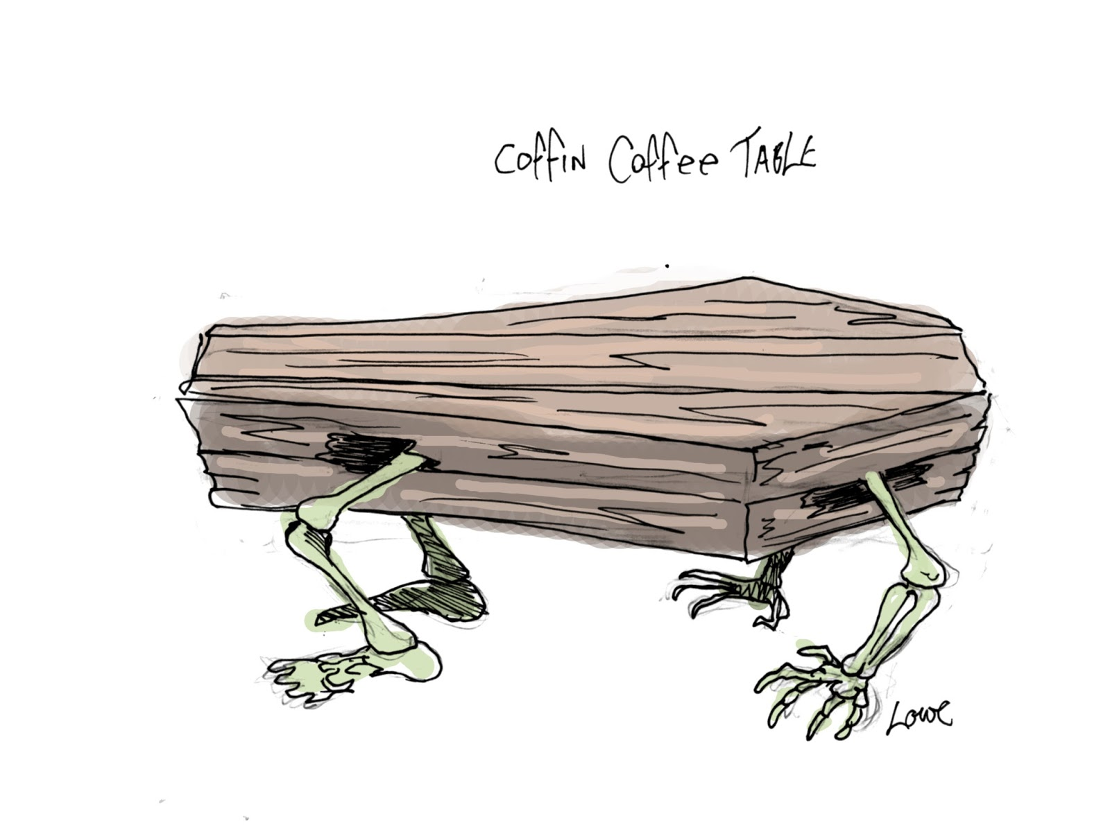 DAVE LOWE DESIGN the Blog 6th Day of Halloween Coffin Coffee Table