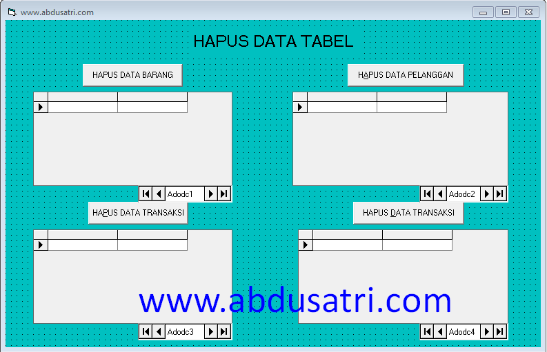 buat program hapus database di visual basic
