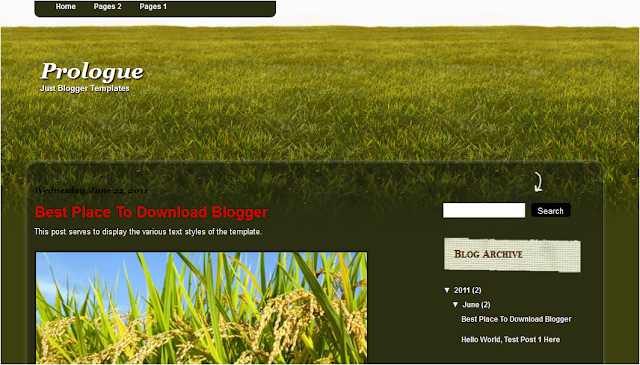Green Nature Blogger Template