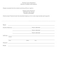 Alumni Contact Information Form