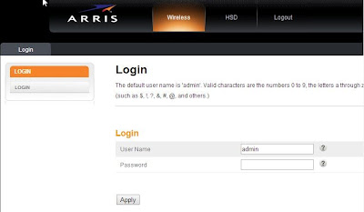 login router arris