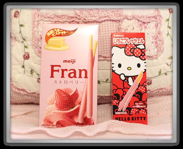 Candysan Japanese Candy Haul Review japan food meiji Fran Strawberry Hello Kitty Bretzels pretzels kabaya