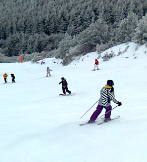 skiing near Madrid