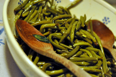 Green Beans at Borgo Argenina in Gaiole in Chianti, Italy - Photo by Taste As You Go