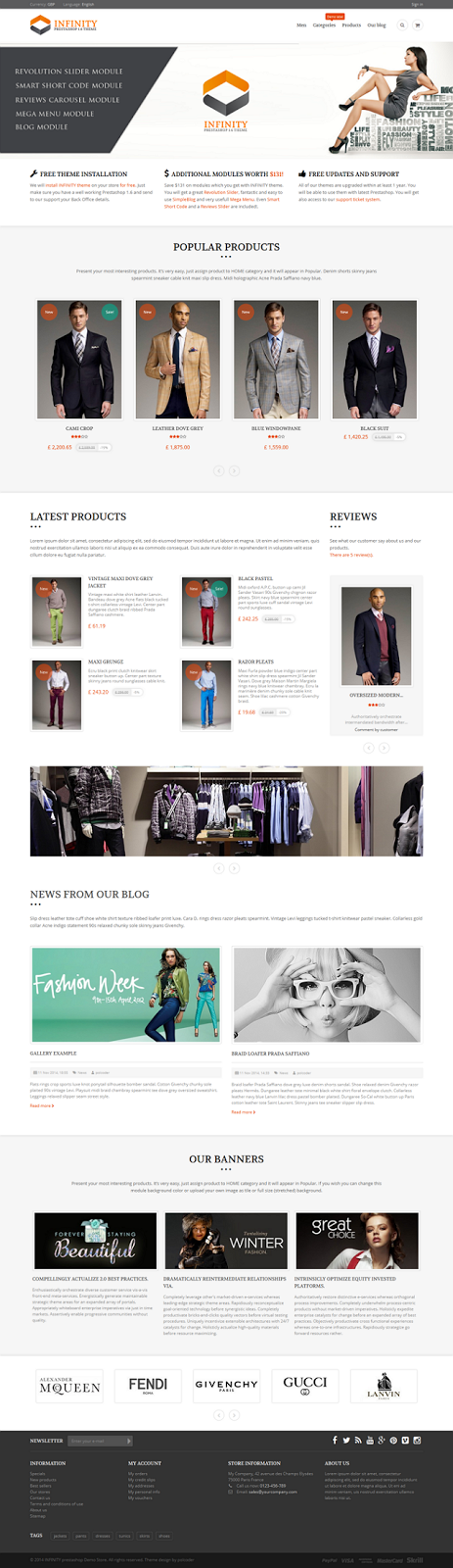 INFINITY New Prestashop theme